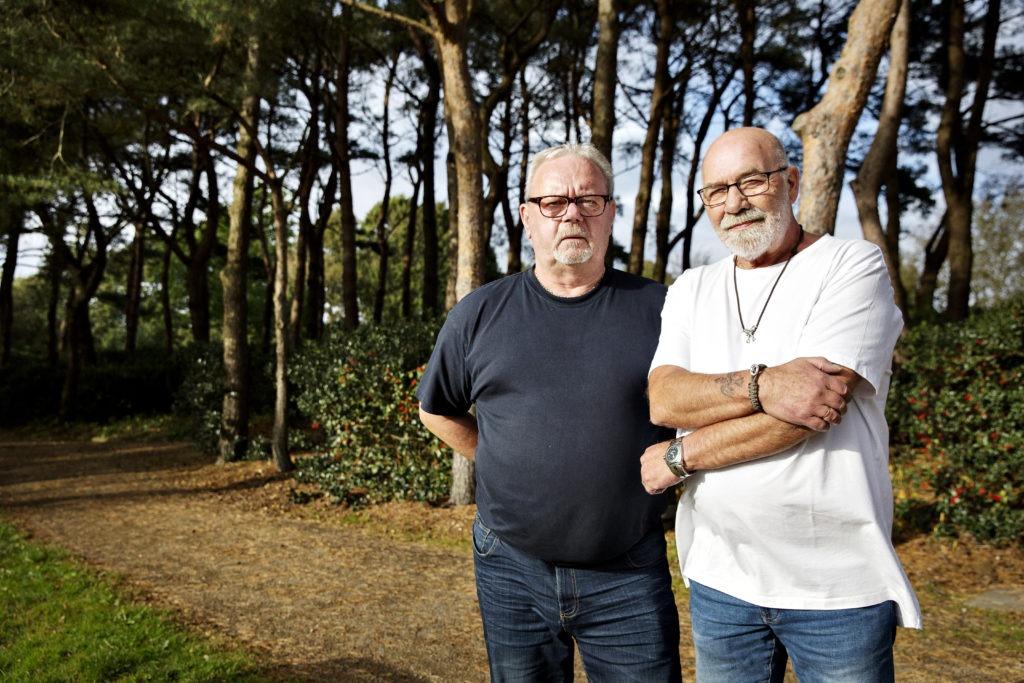 Vagn Justesen og Calle Tøtrup er frivillige i Hjerteforeningen. De er gamle venner og bor i Oksbøl i Vestjylland. Billederne er til frit brug.